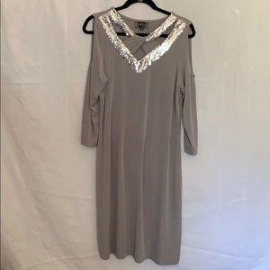 Slinky Brand Gray Dress